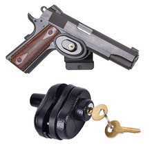 3 pcs/lot  Zinc Alloy Trigger Lock with 2 Keys Gun for Firearms Pistol Air Rifle Ultralight Strong Hunting Accessories