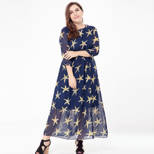 femme Boho big size Fat MM Elegant Chiffon Summer Dress women Vestidos L-6XL Plus size long Dresses Large size casual dress