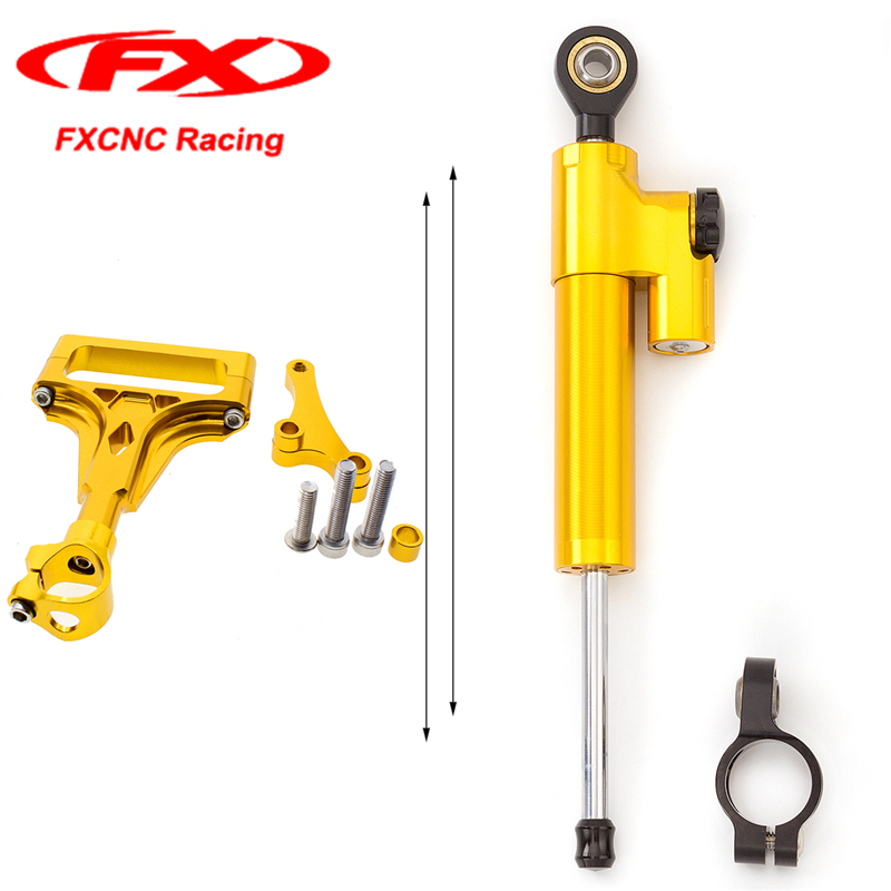For KAWASAKI Z1000 Z750 2004 2005 2006 2003-2009 FXCNC Motorcycle Accessories Steering Stabilizer Damper Safety Control Brackets waase cnc aluminium steering stabilizer damper mounting bracket for kawasaki z750 z1000 2003 2004 2005 2006 2007 2008 2009