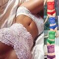 2016 New Underwear Suit Women's Sexy Corset Lace Push Up Vest Top Girl Bra And Brief  Set Underwear Suit G-String bra