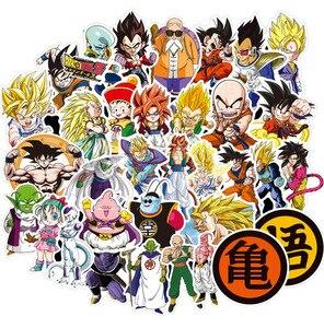 100 pcs Dragon Ball Super Z Stickers Anime Goku Vegeta Decals Sticker to Laptop Suitcase Guitar Fridge Bicycle Motorcycle Car