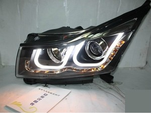 Image 1 - Bumper lamp for chevrolet Cruze Headlight 2009 2010 2011 2012 2013 DRL Bi Xenon Lens HI LO Parking HID Fog Lamp cruze Taillight