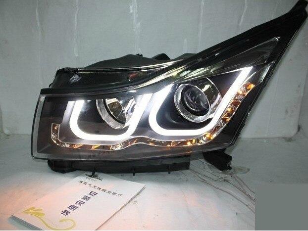Bumper lamp for chevrolet Cruze Headlight 2009 2010 2011 2012 2013 DRL Bi Xenon Lens HI LO Parking HID Fog Lamp cruze Taillight