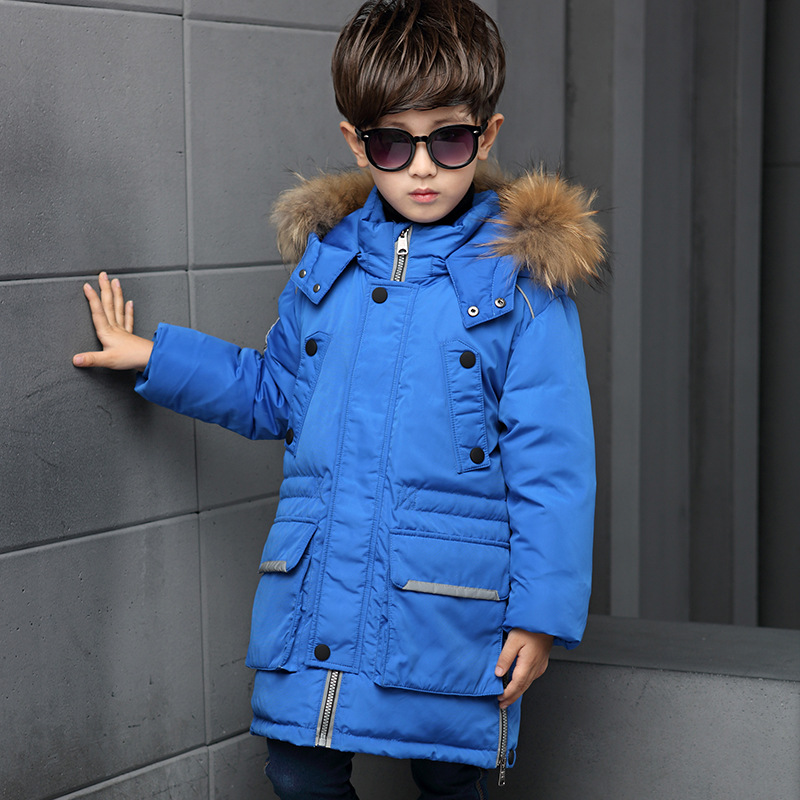 New Winter Jackets For Boys Children down coat Thicken Snowsuit natural fur outerwear Kids Clothes kids designer winter coats 2016 winter boys ski suit set children s snowsuit for baby girl snow overalls ntural fur down jackets trousers clothing sets