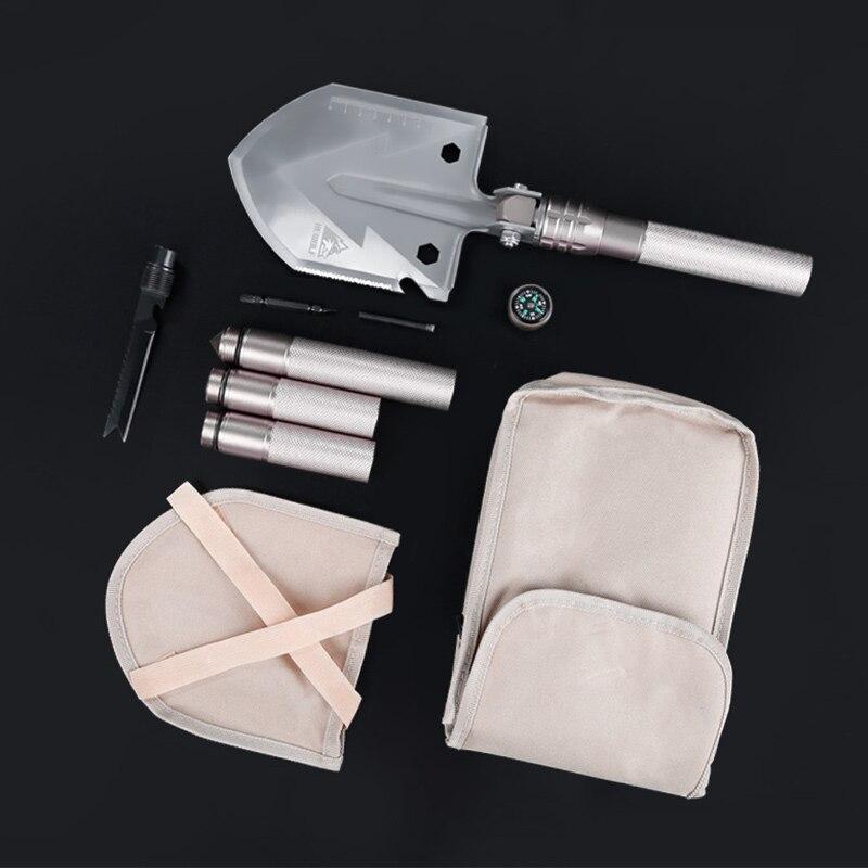 Hewolf Foldling pelle multifonctionnelle Portable en aluminium survie en plein air outils tactiques jardin camping équipement couteau pied de biche