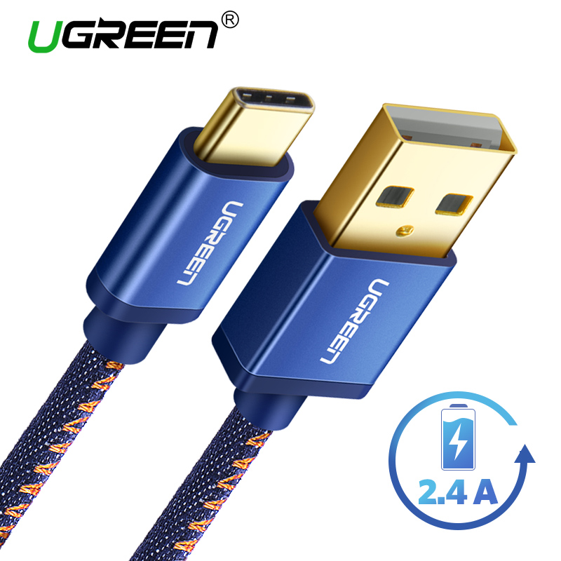 Ugreen USB C Cable for Samsung Galaxy S9 2.4A USB Type C Fast Charge Data Cable for Xiaomi Mi8 5 Nintendo Switch USB Type-C Cord
