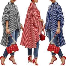 Chic Elegant Irregular Fashion Women Ladies Summer  batwing Sleeve Loose Casual Blouse Shirt Tops
