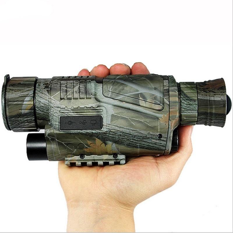 Hot Digital IR Infrared Night Vision Tactical Monocular Scope 200m 5X40 Zoom Record wg-50 snooper scope hunting Night Vision yunok sentinel 2 5x50 night vision riflescopes generation 1 infrared illuminator monocular hunting rifle scope tube based