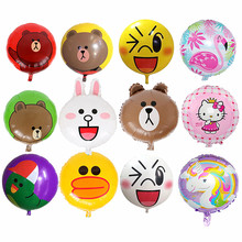 50pcs / παρτίδα 18inch Cartoon Foil Μπαλόνι Bear / Κουνέλι / Μίκυ Μπαλόνι γενεθλίων Party Διακοσμήσεις Παιδιά BabyShower Συμβαλλόμενο μέρος Προμήθειες