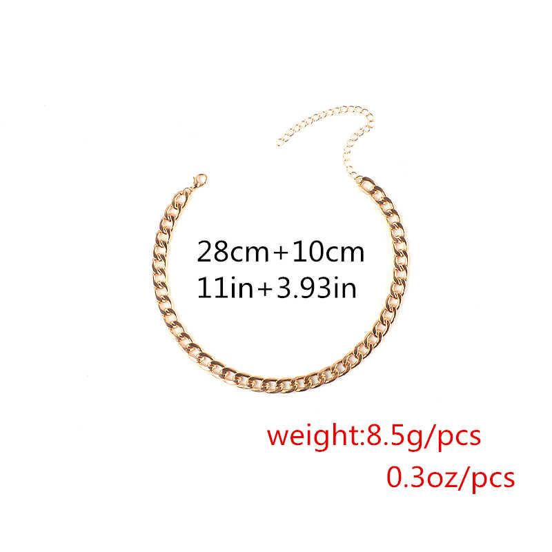 Ingemark ファッション 38 センチメートルロングネックレスワイド合金ロング黄金色声明女性のための