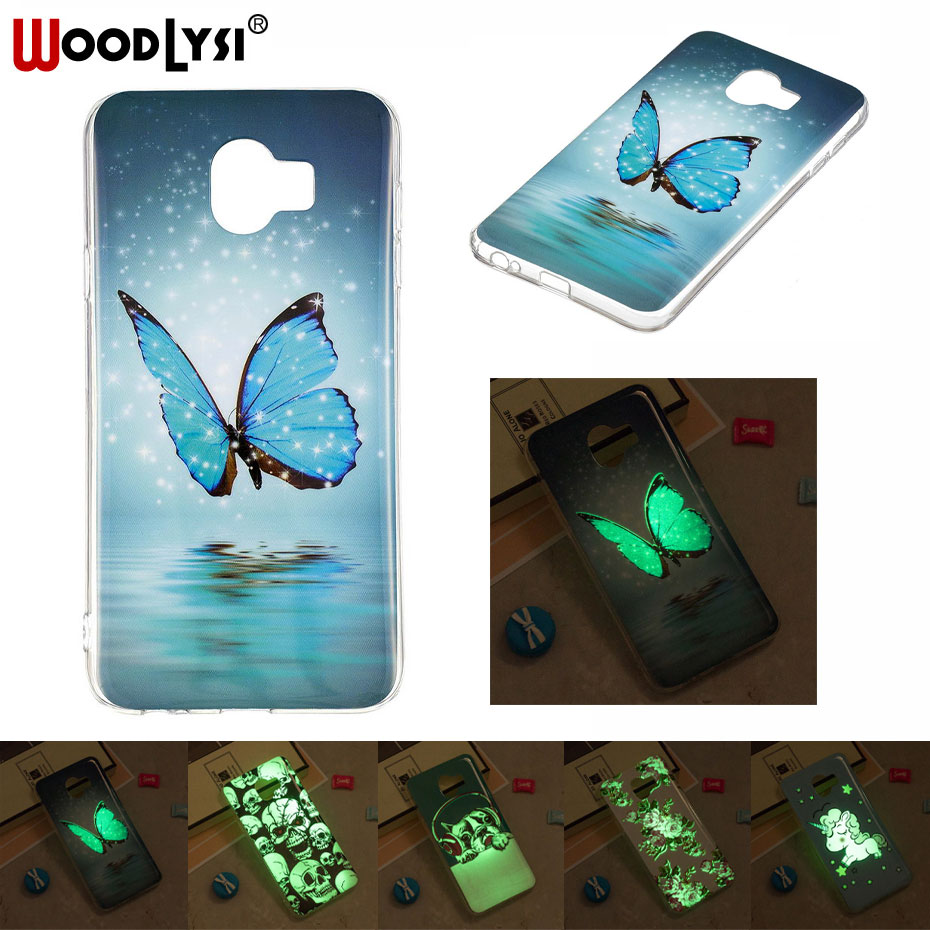 Galleria fotografica Luminous Painting Phone Case For samsung galaxy J4 2018 Glow in the Dark Soft TPU Silicone IMD Phone Case for galaxy J4 2018