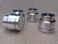 4pcs Set Aluminum Alloy Diameter 53mm High 50mm Audio Amplifier Foot Shock Absorbers Feet Magnetic Suspension