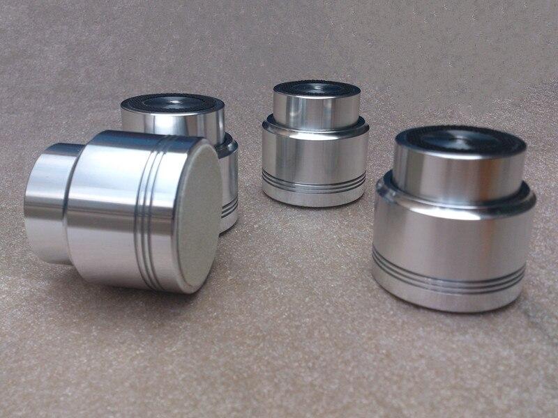 4 pièces/ensemble en alliage d'aluminium diamètre 53mm haut 50mm amplificateur audio pied amortisseurs pieds suspension magnétique pied amortisseur