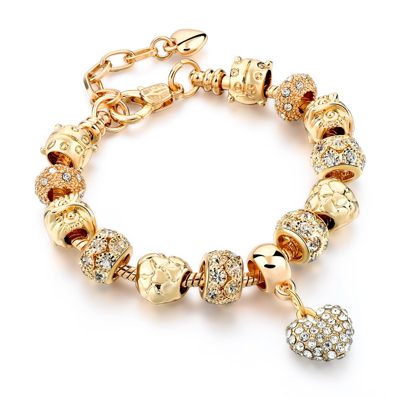 Crystal Heart Charm Bracelet 11