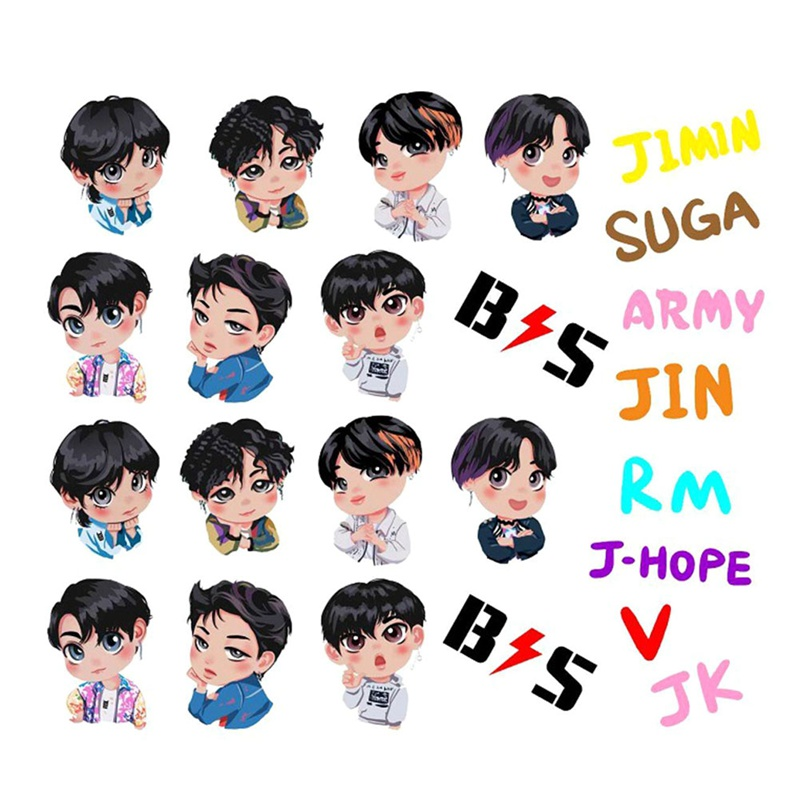 2019 BTS Cute Army Bangtan Boys EXO Album Paper DIY Stickers For