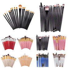 15pcs Makeup Brushes for Eyeshadow Eye Brow Kit pinceis maquiagem Soft Lip Foundation Brush Set Make Up Powder Eyebrow Brushes цена