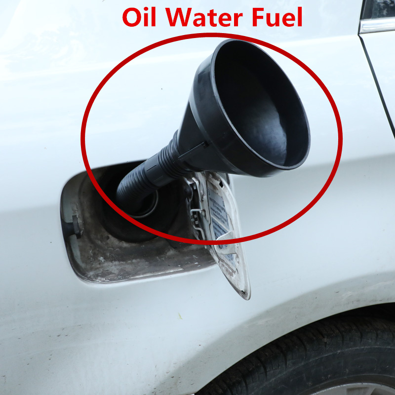 Newest Plastic Funnel Can Spout For Oil Water Fuel Petrol Diesel Gasoline Universal For Auto Car Motorcycle Bike Truck ATV RV