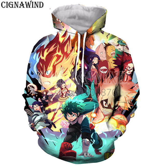e11463405dd5 New Anime No Hero My Hero Academia hoodies men women 3D printing harajuku  style t shirt  hoodies  sweatshirts vest  summer tops