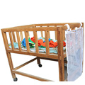 New Crib Toy Bag Baby Cot Bed Hanging Storage Netting Bag Newborn Crib Organizer Toy Diaper Pocket for Crib Bedding Set Bags