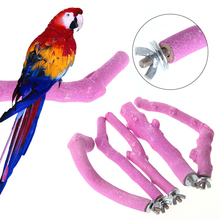 1PC Pet Bird Cage Perches Stand Platform Chew Toy Paw Grinding For Parrot Parakeet jungle gym toy set climbing stand platform for monkey