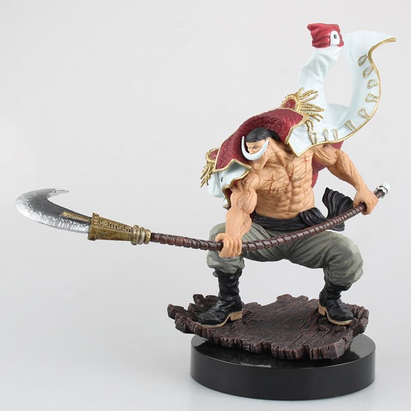 22cm Action Figure White Beard Pirates Edward Newgate PVC One piece Sculptures the TAG team Anime Figure Toys Japanese Figure