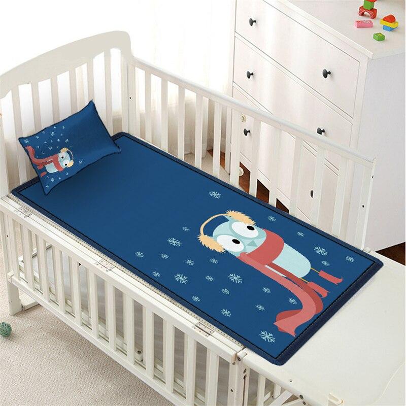 Cartoon Dier Baby Zomer Slapen Bed Mat Vel Studenten Slaapzaal Bed Matras Protector Cover Zomer Ijs Zijde Slaap Mat Set Bekwame Vervaardiging