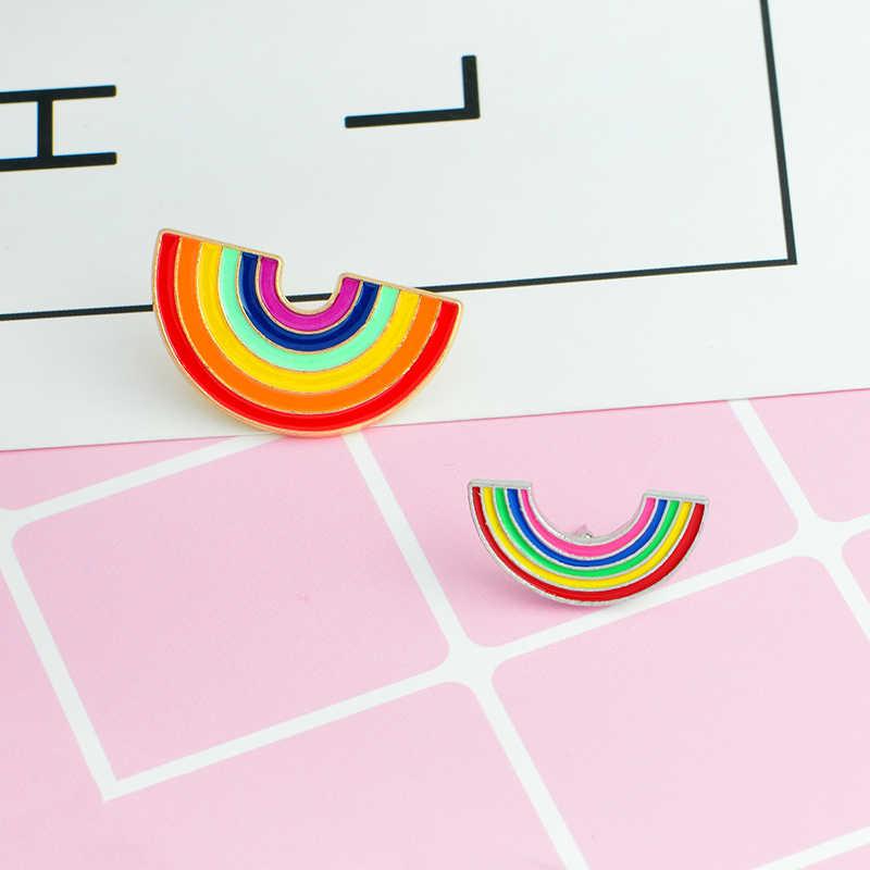 かわいい虹エナメルピンブローチバッジラペルピン夏祭ジュエリーデニムジャケットブラウスバックパック帽子アクセサリー