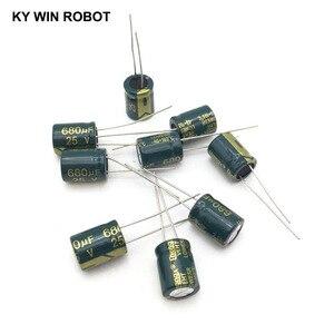 Image 1 - 10 pcs Aluminum electrolytic capacitor 680 uF 25 V 10 * 13 mm frekuensi tinggi Radial Electrolytic kapasitor