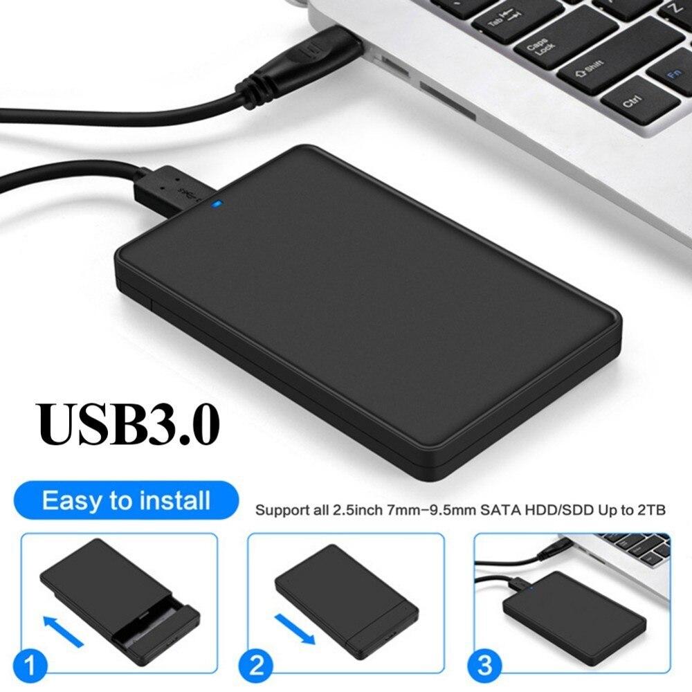 2.5 pouce DISQUE DUR SATA à USB 3.0 Outil-livraison Boîtier Externe Pour Disque Dur HDD SSD Cas Nas Caddy boitier Disque Dur 2.5 USB 3.0