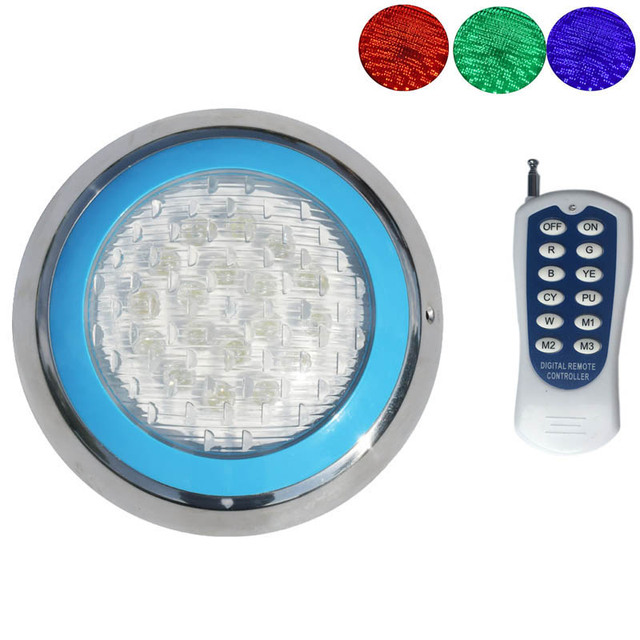 12V Marine Boat RGB LED Underwater Light with Remote Control Swimming Pool Pond Outdoor Lighting