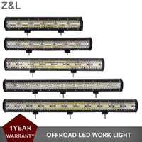 3ROWS OFF ROAD LED LIGHT BAR 12V 24V OFFROAD CAR AUTO DRIVING LAMP 4X4 4WD UTE TRUCK BOAT AWD SUV TRAILER PICKUP AUXILIARY REFIT