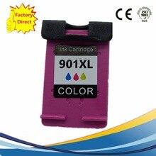 1 Pack Color Ink Cartridges For HP 901 XL 901XL HP901 HP901XL Officejet J 4524 4535 4540 4550 4580 4585 4660 4680 Inkjet Printer