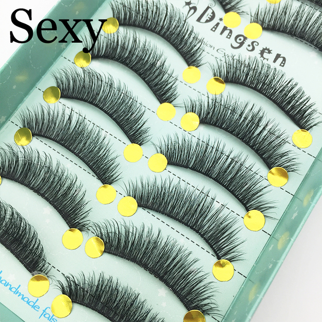 10 Pairs 3D Soft Faux Mink Hair False Eyelashes Natural Messy Eyelash Crisscross Wispy Fluffy Lashes Extension Eye Makeup Tools Beauty & Health