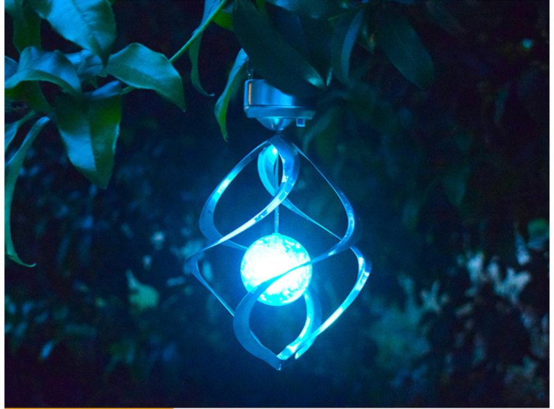Solar Lights LED Outdoor Wind Chimes Color Changing Hanging Light Spiral Spinner Lamp Decoration for Garden Patio Balcony Indoor (28)