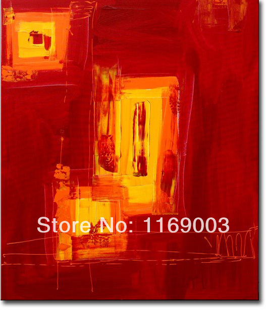 Cheap Abstract modern canvas art font b knife b font paint famous red oil painting only