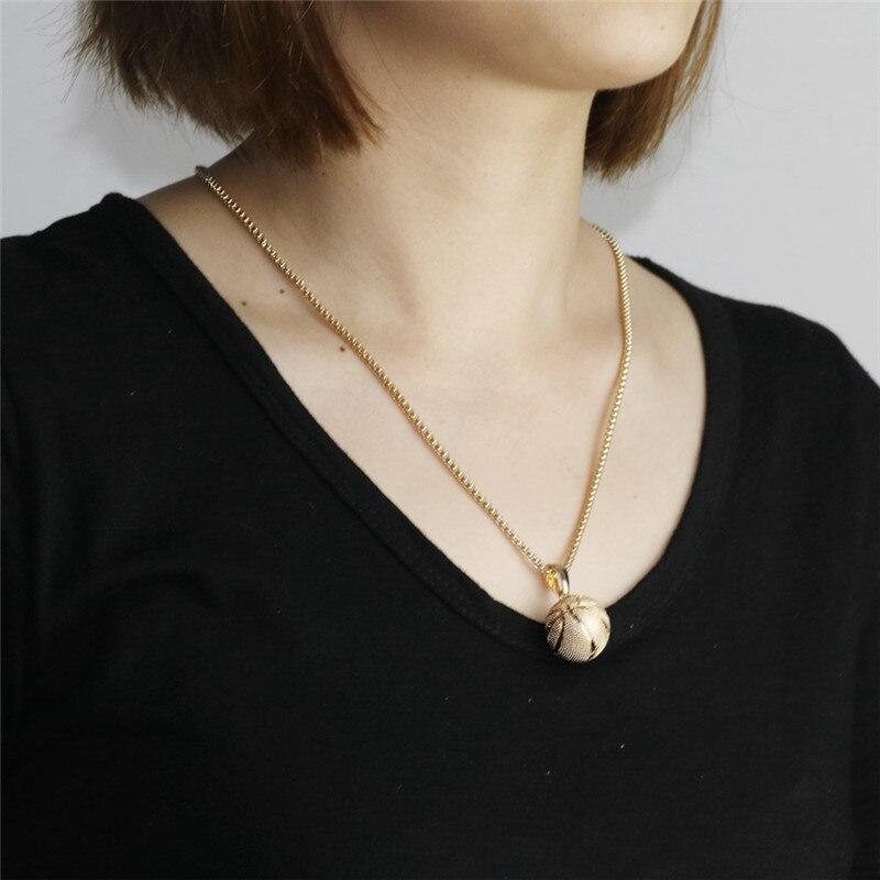 Basket hänge halsband guld rostfritt stål kedja halsband kvinnor - Märkessmycken - Foto 5