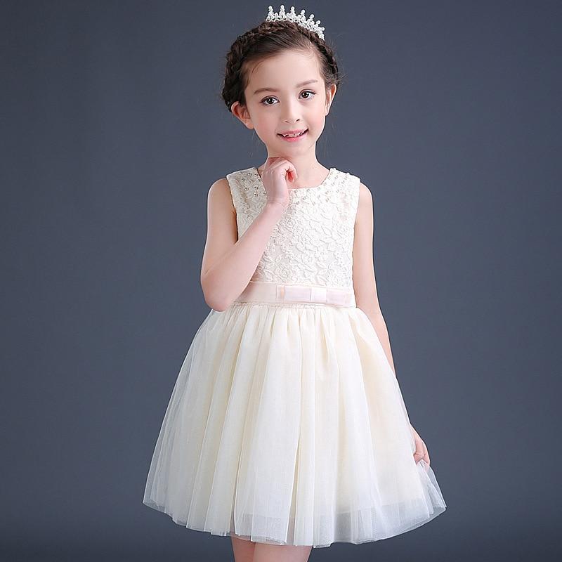 Summer Flower Girl Dress Top Grade 4 13 Yrs Baby Princess