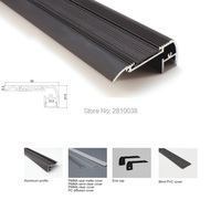 100 X 1M Sets Lot Stair Step Aluminum Profile Led And Black Finish Flat Led Channel