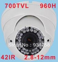CCTV 1 3 SONY Effio 700TVL 2 8 12mm Lens 42 LEDS IR Dome Camera With