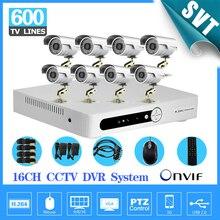 TEATE 8ch sistema de Câmera de vigilância de Vídeo de Segurança CCTV 16CH H.264 DVR Dia Noite intempéries Câmera DVR Kit HDMI 1080 P SK-225
