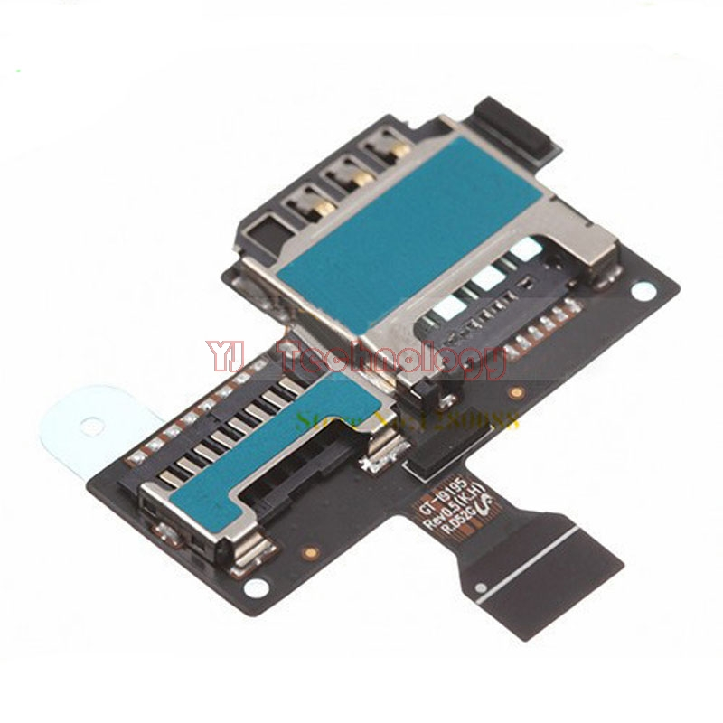 New For Samsung Galaxy S4 Mini I9190 I9195 SIM Card And SD Card Reader Contact Flex Cable