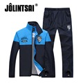 Jolintsai 2017 Sportsman Wear Men Letter Print Tracksuits Sweatshirt Pant Patchwork Sportswear Men Suit Two Piece Set Sportswear