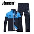 Jolintsai 2017 Sportsman Wear Men Letter Print Tracksuits Sweatshirt Pant Patchwork Sportwear Men Suit Two Piece Set Sportwear