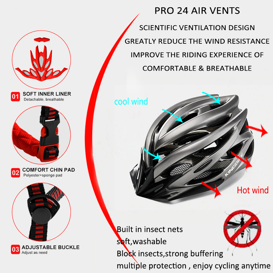 BASECAMP Bicycle Helmet Titanium Ultralight In mold Cycling Helmet With Visor Breathable Road Mountain MTB Outdoor Bike Helmet in Bicycle Helmet from Sports Entertainment