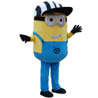 34 Styles Minions Mascot Costume EPE Fancy Dress Outfit Adult Mascot Costume Xmas Gift