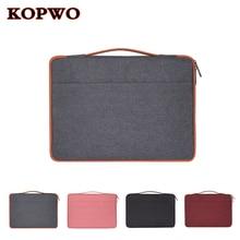 KOPWO Waterproof Notebook Bag Laptop Briefcase Wear Resistant Shockproof Bag for Apple Macbook Sony Dell Lenovo 11 12 13 14 15