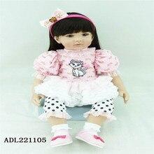 22 inch 55 cm Silicone reborn dolls, lifelike doll reborn babies toys Cute girl