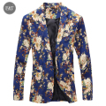 [Asia Size] New Men's Thin Blazer Fashion Korean Floral Slim Small Suit Casual Mens Suit Outdoors Men Wild Little Suit Jacket
