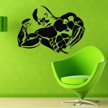 Gym Sticker Fitness Decal Bodybuilding Posters Vinyl Fit Wall Decals Parede Decor Mural 19 Color Choose Gym Sticker
