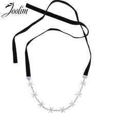 Joolim Black Velvet Starburst Choker necklace Delicate Necklace Party